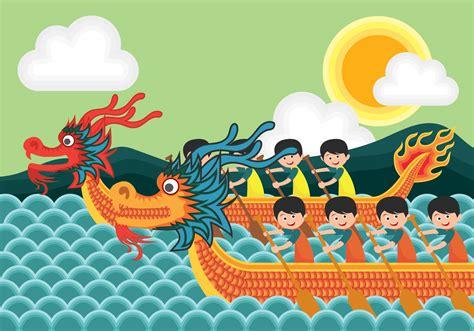 Dragon Boat Festival Vector by Dragon Boat Festival Illustration Download Free Vector