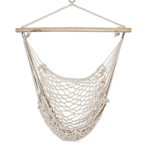 new porch beige cotton swing rope hammock patio garden air