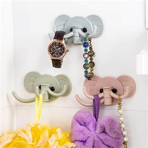 elephant plastic decorative key holder wall shelf