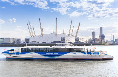 Boat Service London by River Bus Getting Here The O2