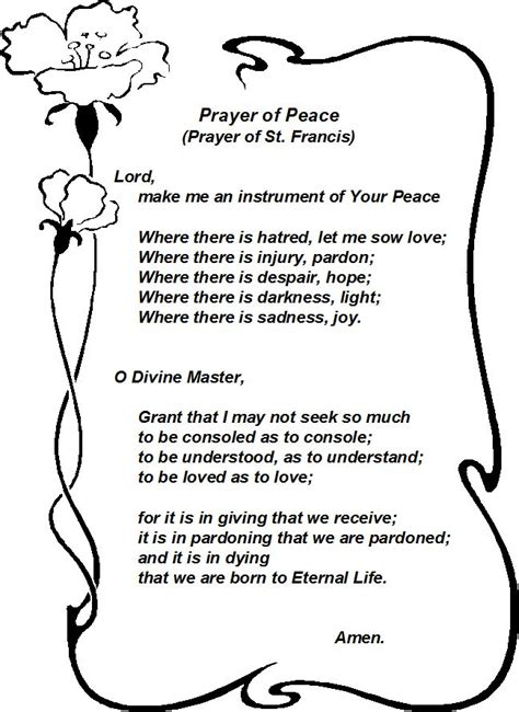 prayer of st francis things for my wall