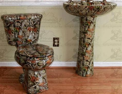 camo bathroom accessories real rednecks say quot water hookups not necessary quot awesome bedrooms