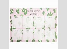 Cactus weekly planner a4 size Pluk Amsterdam