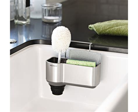 simplehuman brushed steel sink caddy