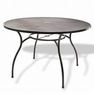 Tischplatte Rund 120 Cm : gartenm bel metall 1 x tisch rund 120x71 4 x stuhl set ~ Markanthonyermac.com Haus und Dekorationen