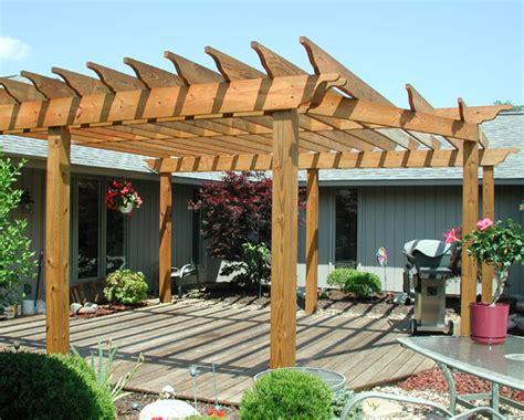 custom wood pergola by elyria fence