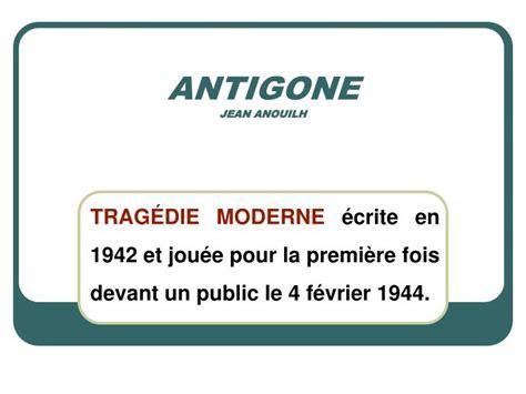 ppt antigone jean anouilh powerpoint presentation id 861372