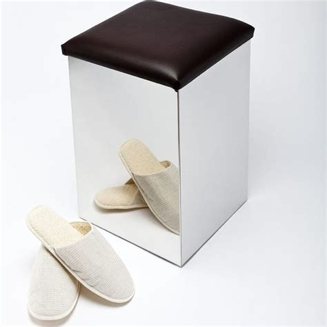 tabouret avec coffre de rangement assise de confort en simili cuir marron fonc 233 convient pour