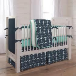 navy anchors crib bedding nautical boy baby bedding