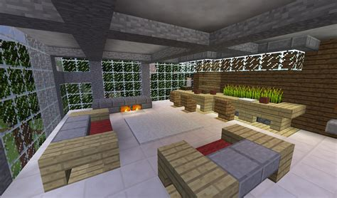 detail modern living room with couches bar and