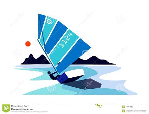 Boot Optimist by Optimist Segelboot Vektor Abbildung Bild Von Sport