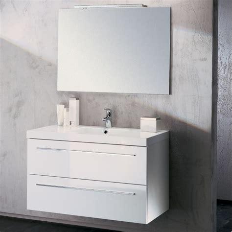 meuble vasque salle de bain sanijura horizon laqu 233 blanc 105 cm