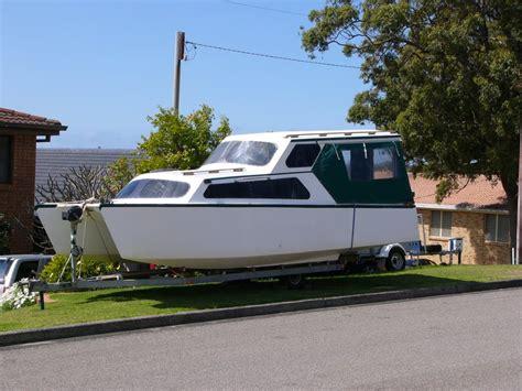 Catamaran Trailer For Sale Uk by Munson Catamaran Hull Trailer Able Houseboat Boat Design Net