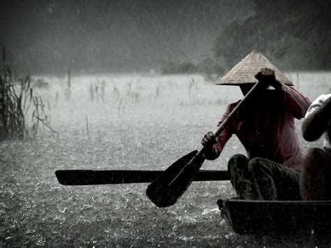 Rowboat In The Rain by Rowboat Photo Ngo Dong River Wallpaper National