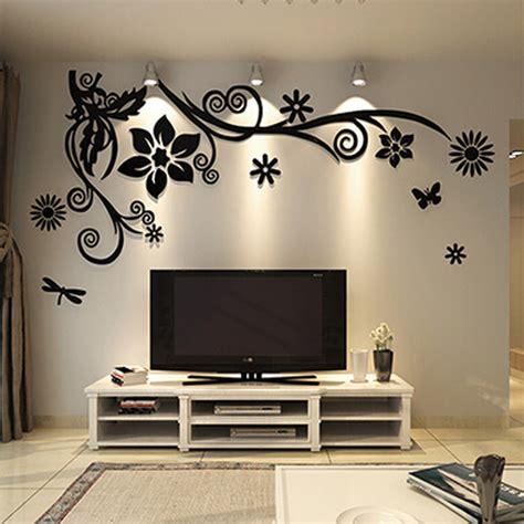 aliexpress buy wonderful tv background decoration flowers acrylic wall sticker best home