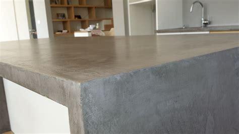 plan de travail cuisine beton cire
