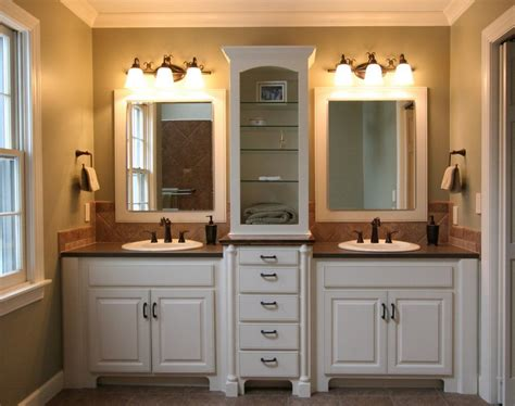 Bathroom Vanity Plans Natural Brown Wooden Vanity Cabinet