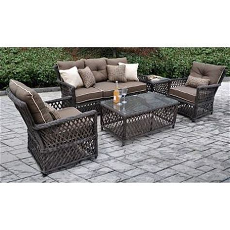 renees all weather synthetic wicker 5 seating set with premium sunbrella fabric