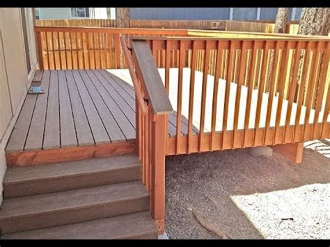 composite deck stair railinghow to install composite deck stair installing stair railing