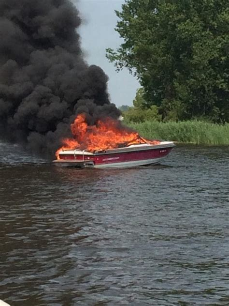 Ottawa Fire Boat by Second Boat Fire Over Holiday Weekend Results In One Minor