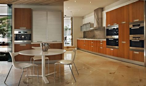 modern kitchen interior at impressive glass house in johannesburg south africa home design
