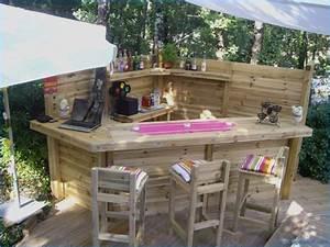 Bar Exterieur De Jardin. bar d exterieur de terrasse en acacia leco ...