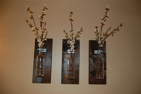wine bottle wall wall vase handmade home accessories