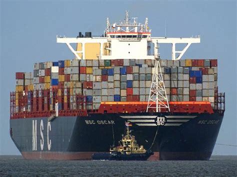 le havre accueille le msc oscar plus gros porte conteneurs du monde mer et marine