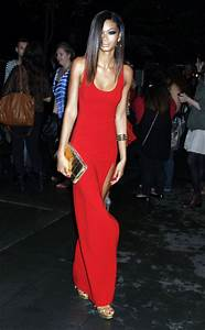 Chanel Iman Sexy Red Prom Gown Evening Dress 2nd Annual ...