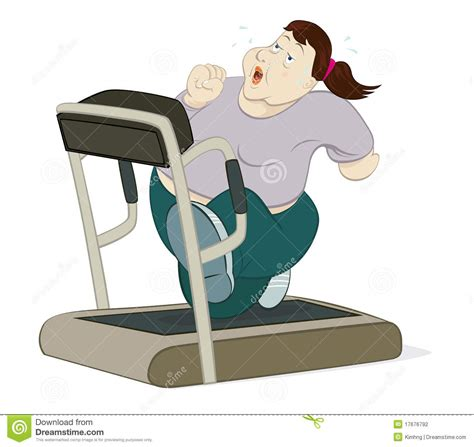femme runing sur le tapis roulant photographie stock image 17676792