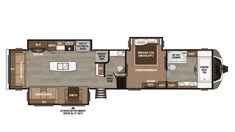 2017 keystone montana 3921fb floor plan 5th wheel