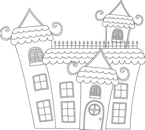 coloriage 224 imprimer une maison hant 233 e dory fr coloriages