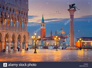 Venice. Image of St. Mark's square in Venice during ...