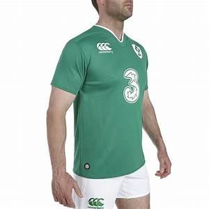 Canterbury Mens Ireland Rugby Home Pro Short Sleeve Shirt ...
