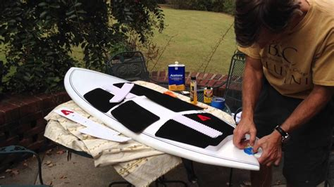 how to remove and apply traction pad surf wakesurf board