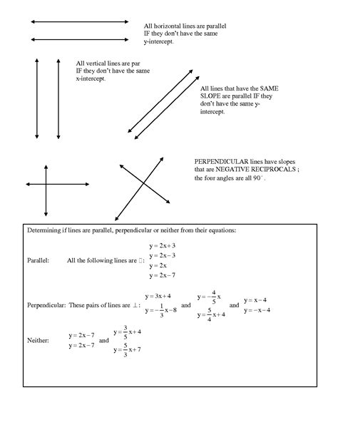 13 Best Images Of Parallel Lines Perpendicular Lines Worksheets  Perpendicular Lines Worksheet
