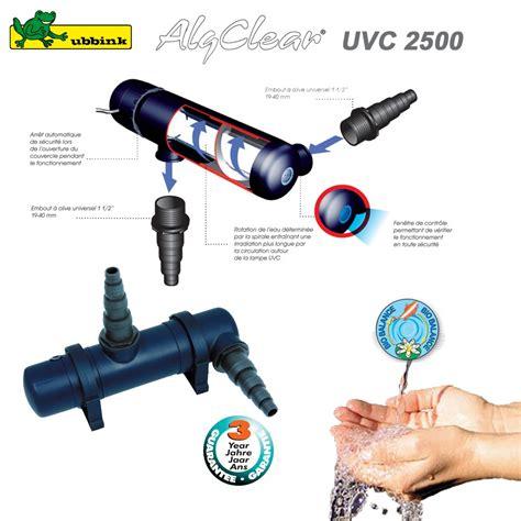 filtre anti algue pour bassin ext 233 rieur algclear uvc 2500 1355130 u