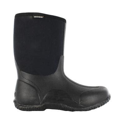 Rubber Boots Home Depot by Bogs Classic Mid Men 11 In Size 15 Black Rubber With