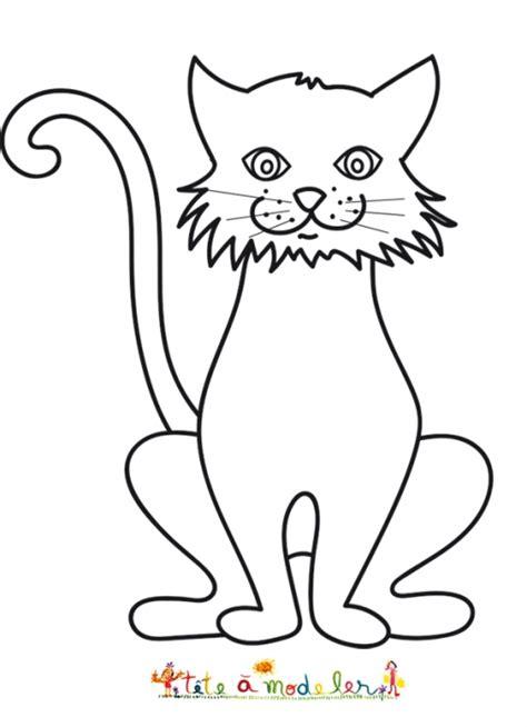 autre dessin du grand chat coloriage chat t 234 te 224 modeler