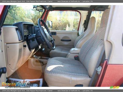 1999 jeep wrangler interior camel interior 1999 jeep wrangler sport 4x4 photo 15