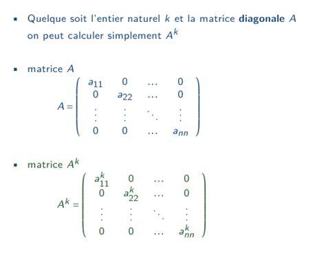 puissance d une matrice diagonale