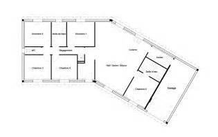 plan maison v garage
