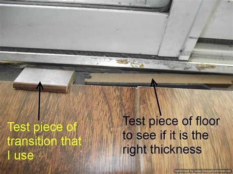 door transition common tile install problem confessions