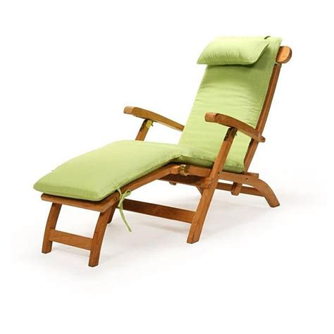 teak steamer chair with cushion free shipping today overstock 12135982