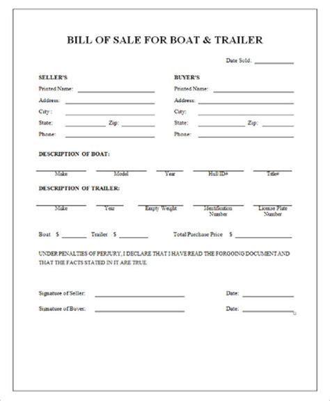 Boat Bill Of Sale Rya by 9 Sle Boat Bill Of Sales Free Sle Exle Format