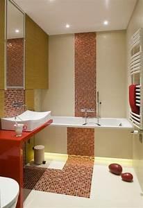 Fliesen Kleines Bad : kleines bad badewanne fliesen farben mosaik orange creme indirekte beleuchtung led keller ~ Markanthonyermac.com Haus und Dekorationen
