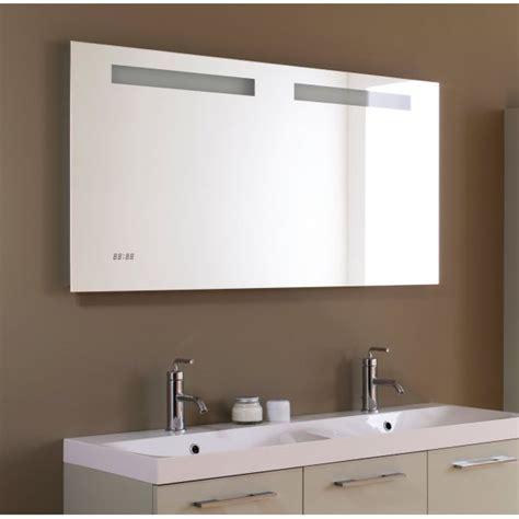 miroir salle de bain r 233 tro 233 clairage horloge et antibu 233 e