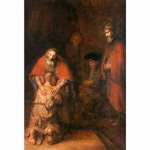 Rembrandt - Return of the Prodigal Son - Canvas Print ...