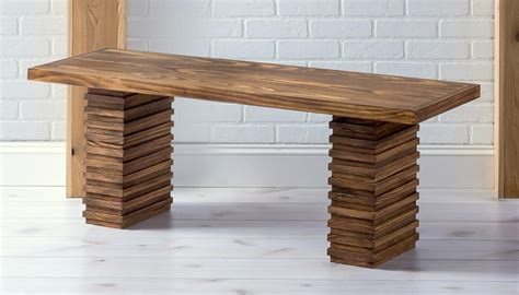 Crate And Barrel Inspired Modern Wooden Bench  Diy Candy