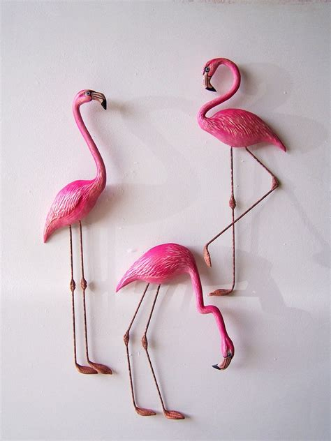 Pink Flamingo Art Wall Decor $2400, Via Etsy  If I